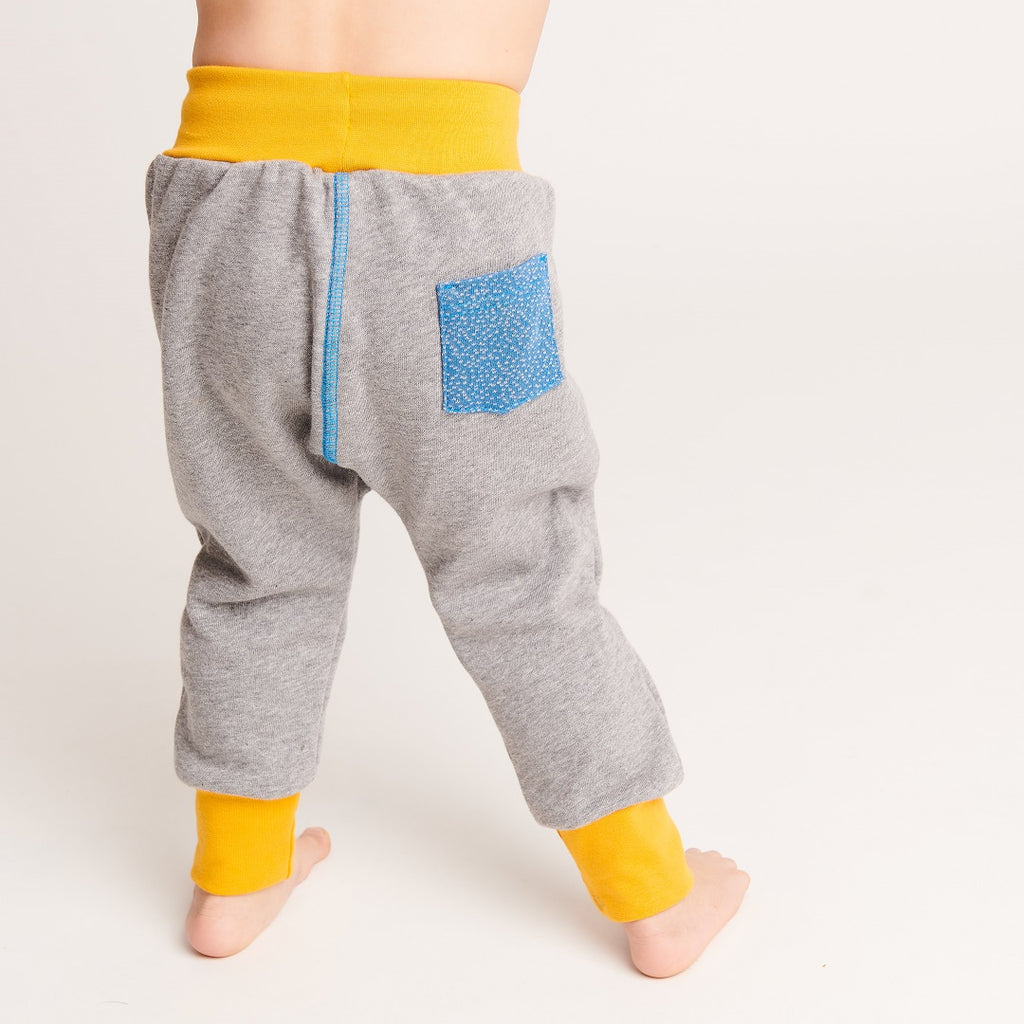 "Boy`s Sweatpants ""Sweat Grey/Dotties Blue"""