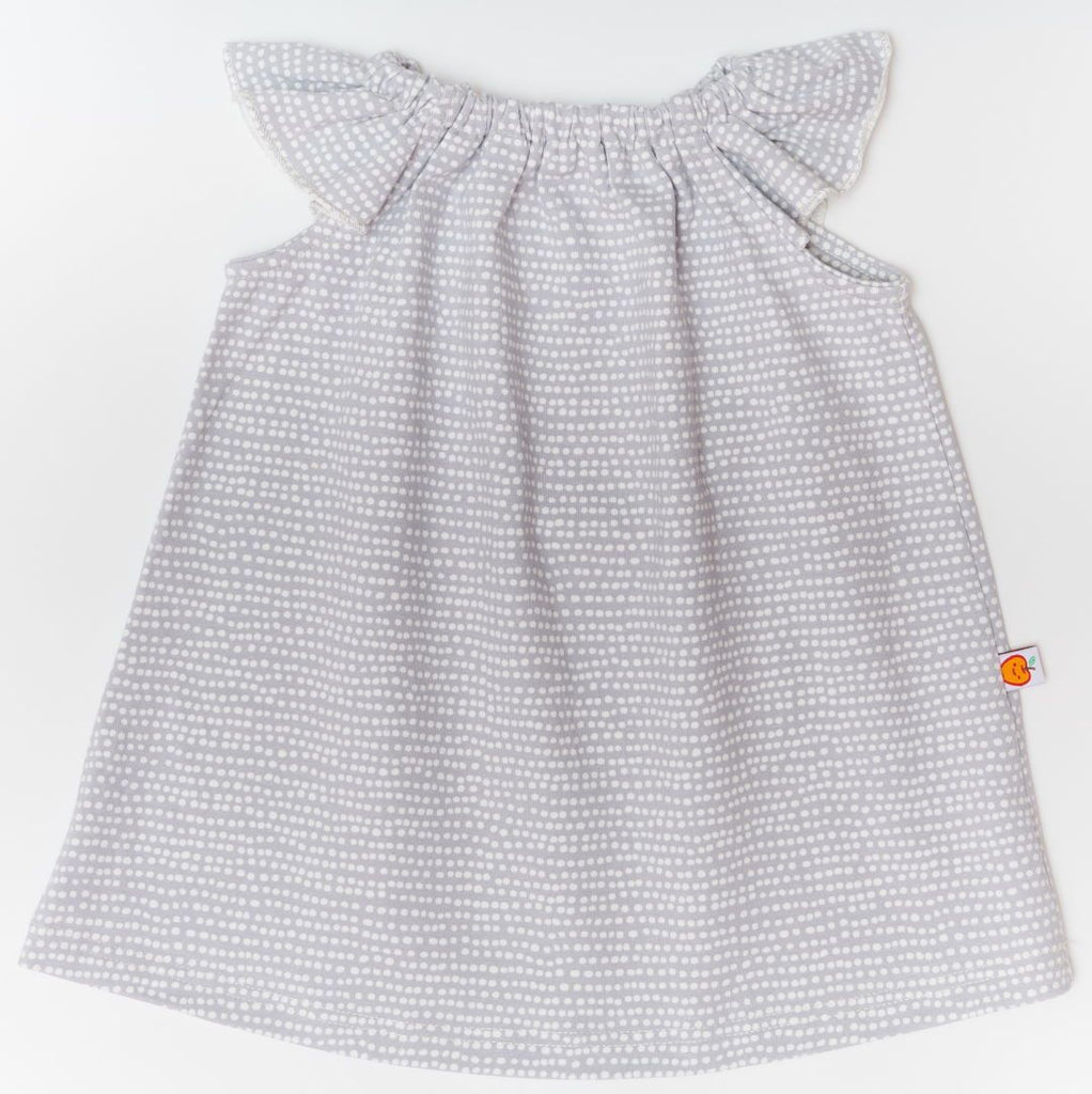 "Sleeveless dress ""Dotted Lines Grey"""