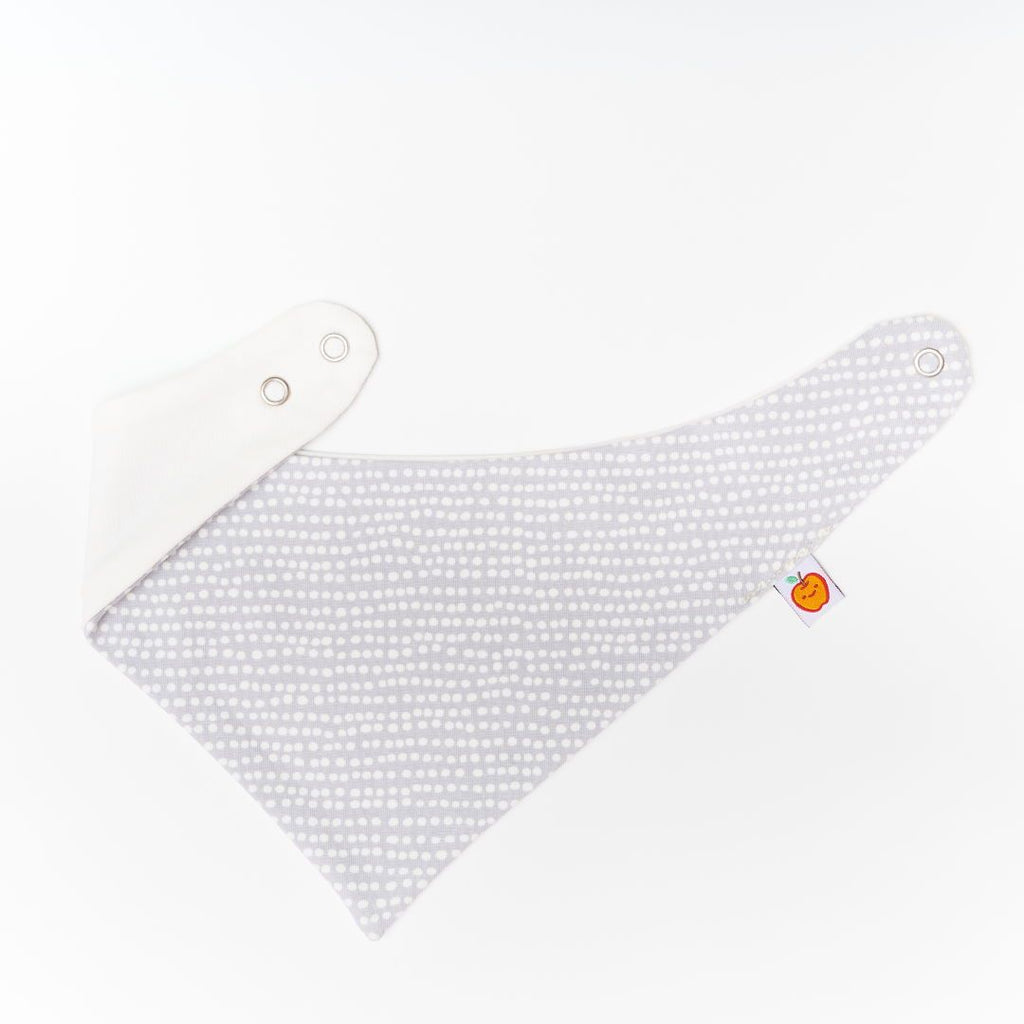 "Dribble bib ""Dotted Lines Grey/Ecru"""