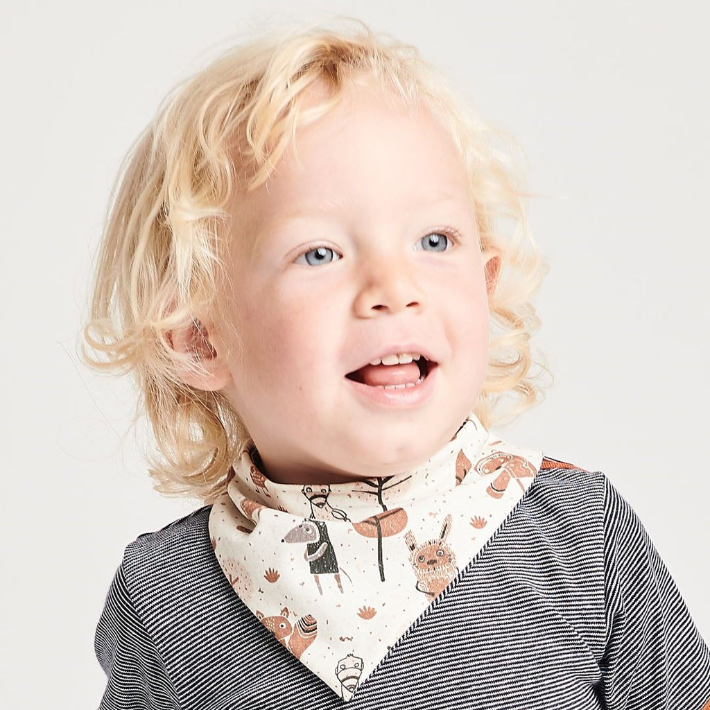 "Dribble bib ""Paper Gang/Navy-White Stripes"""