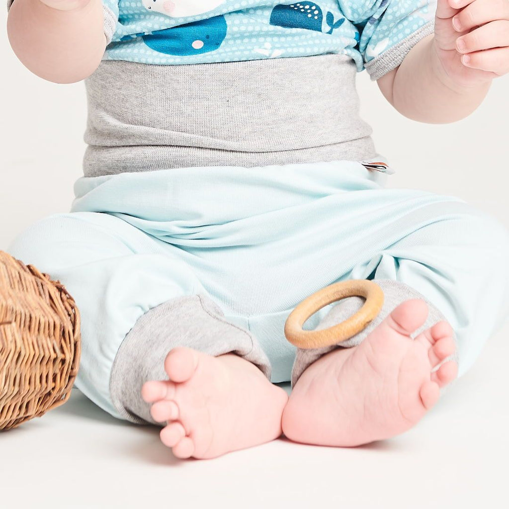 "Baby pants ""Baby Blue/Grey"""