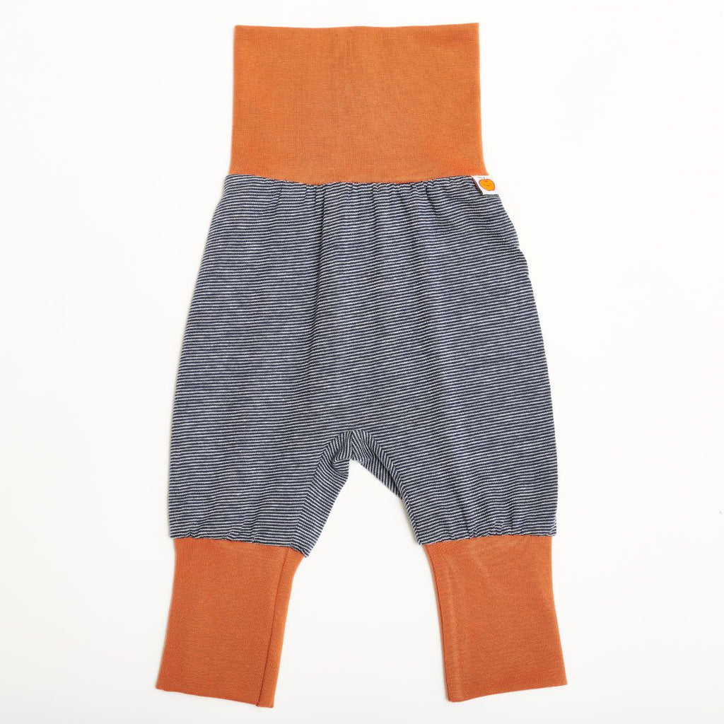 "Baby pants ""Navy-White Stripes/Copper"""