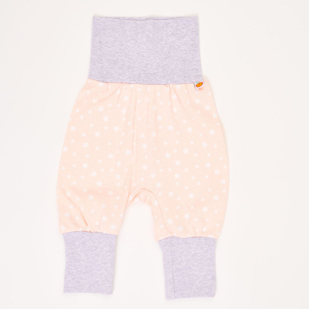 "Baby jersey pants ""Starry Sky Peach Blush/Grey"""