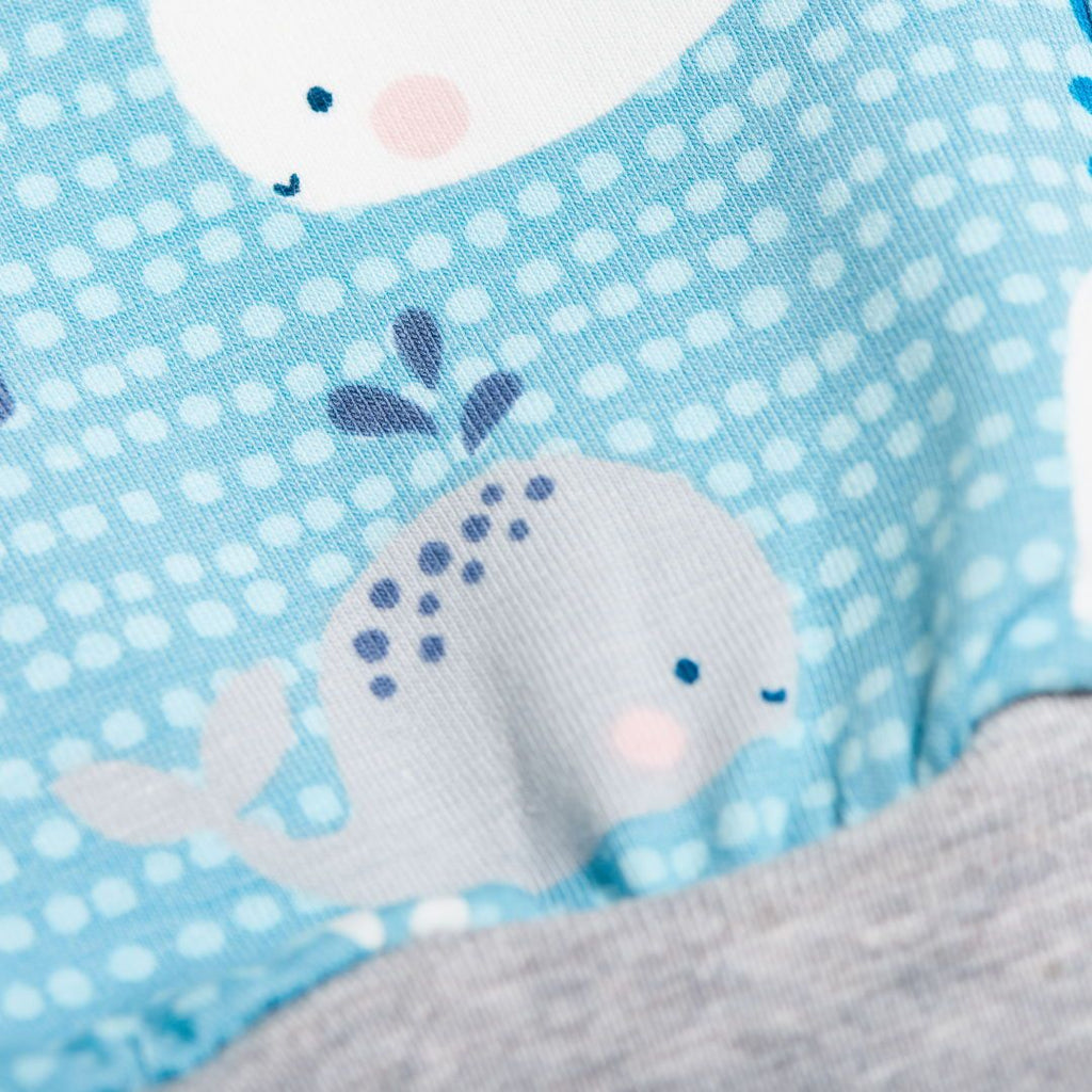 "Baby pants ""Whales/Grey"""