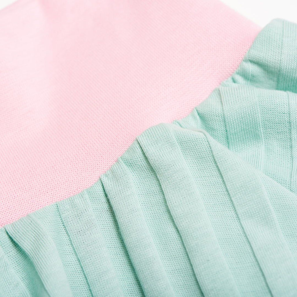 "Skirt ""Ribbed Jersey Spearmint/Baby Pink"""
