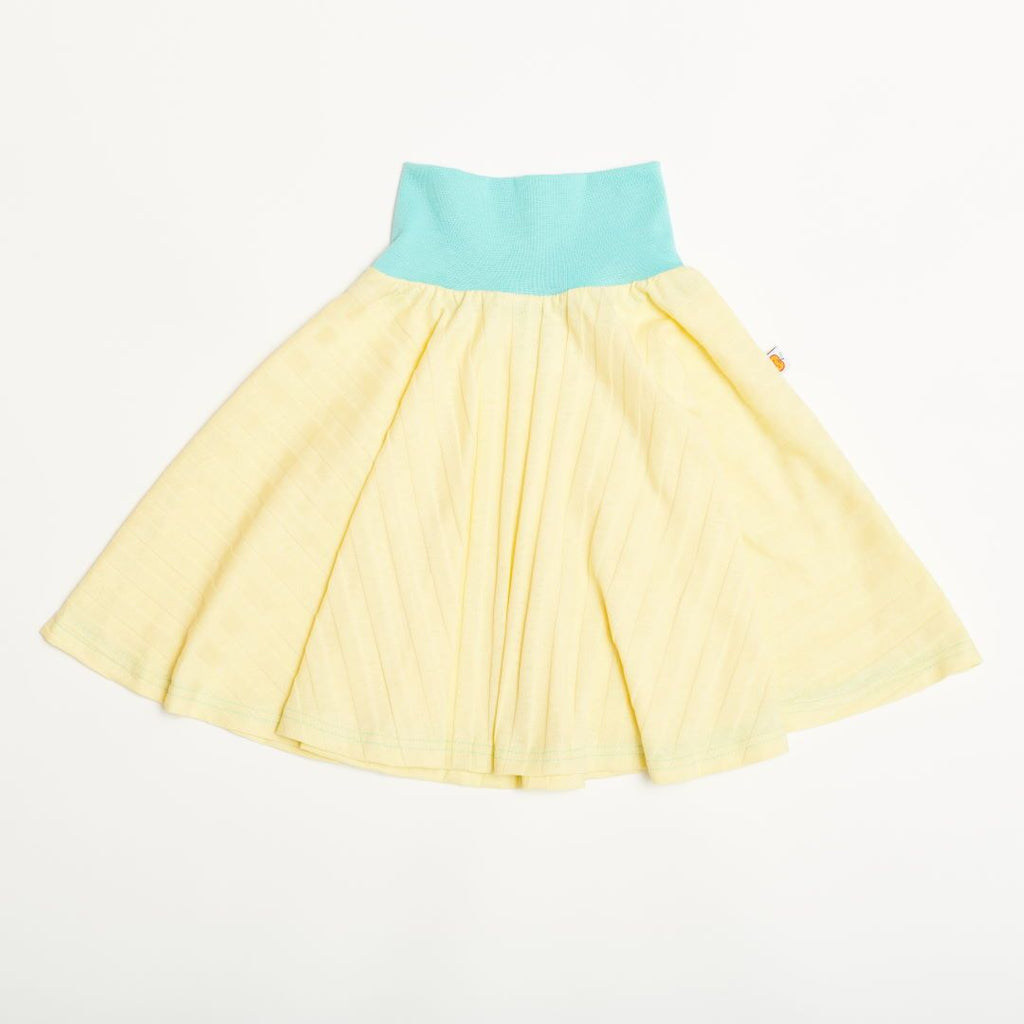 "Skirt ""Ribbed Jersey Vanilla/Mint"""