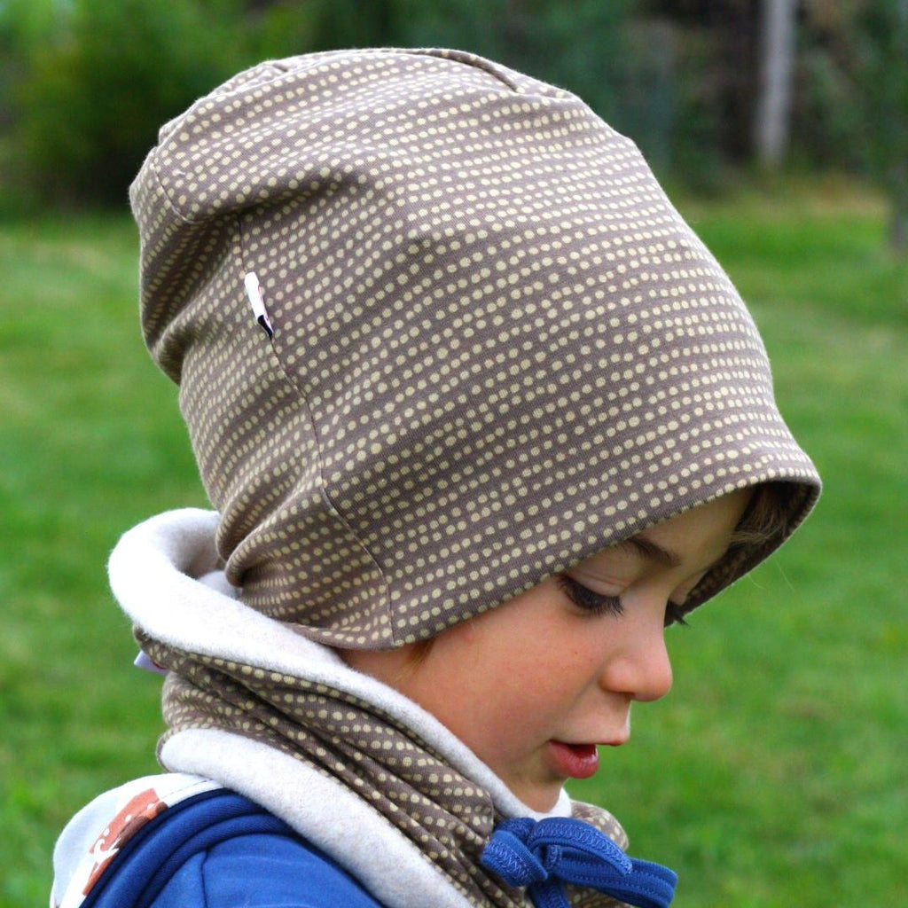"Beanie ""Dotted Lines Taupe"""