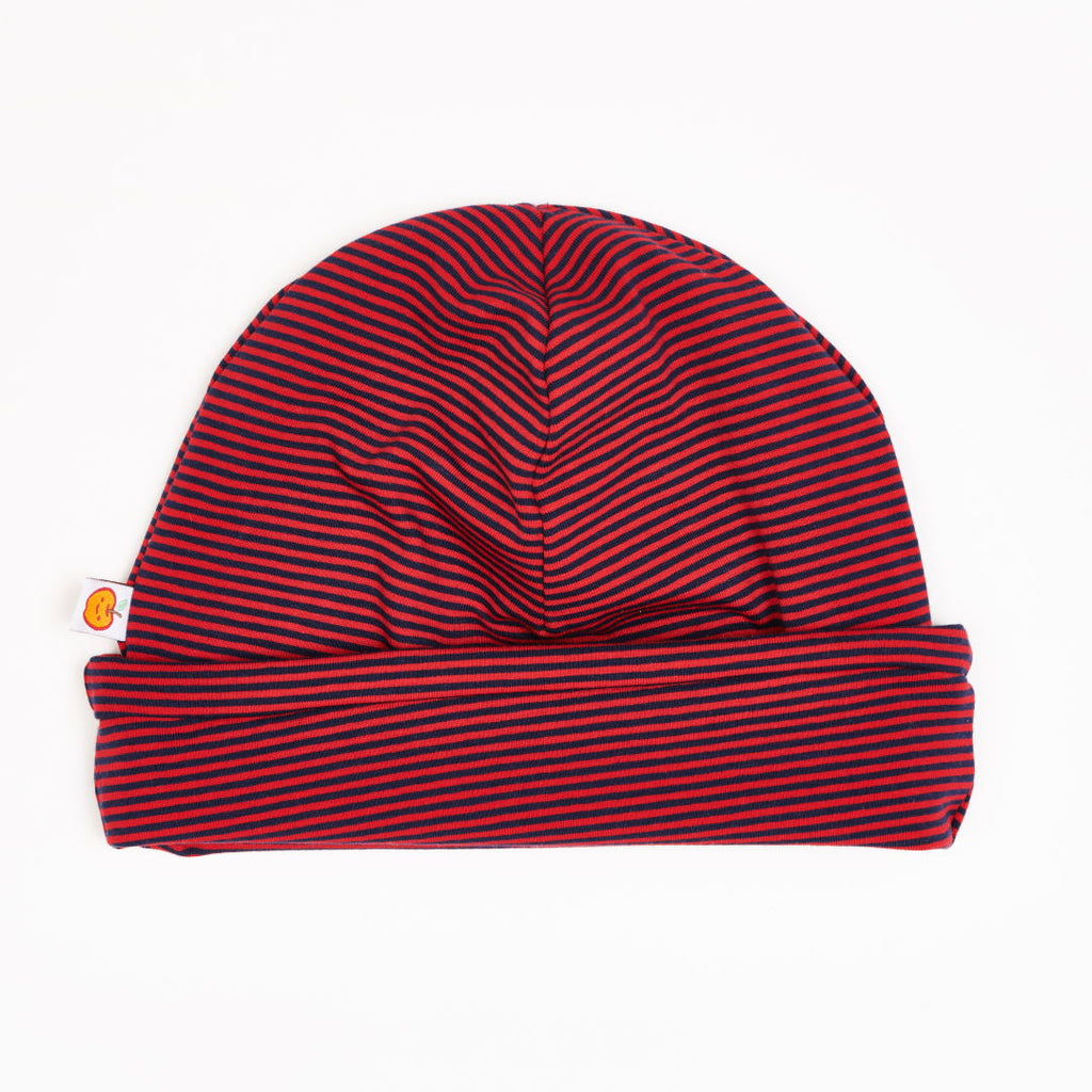 "Beanie ""Jersey Dark blue & red Stripes"""