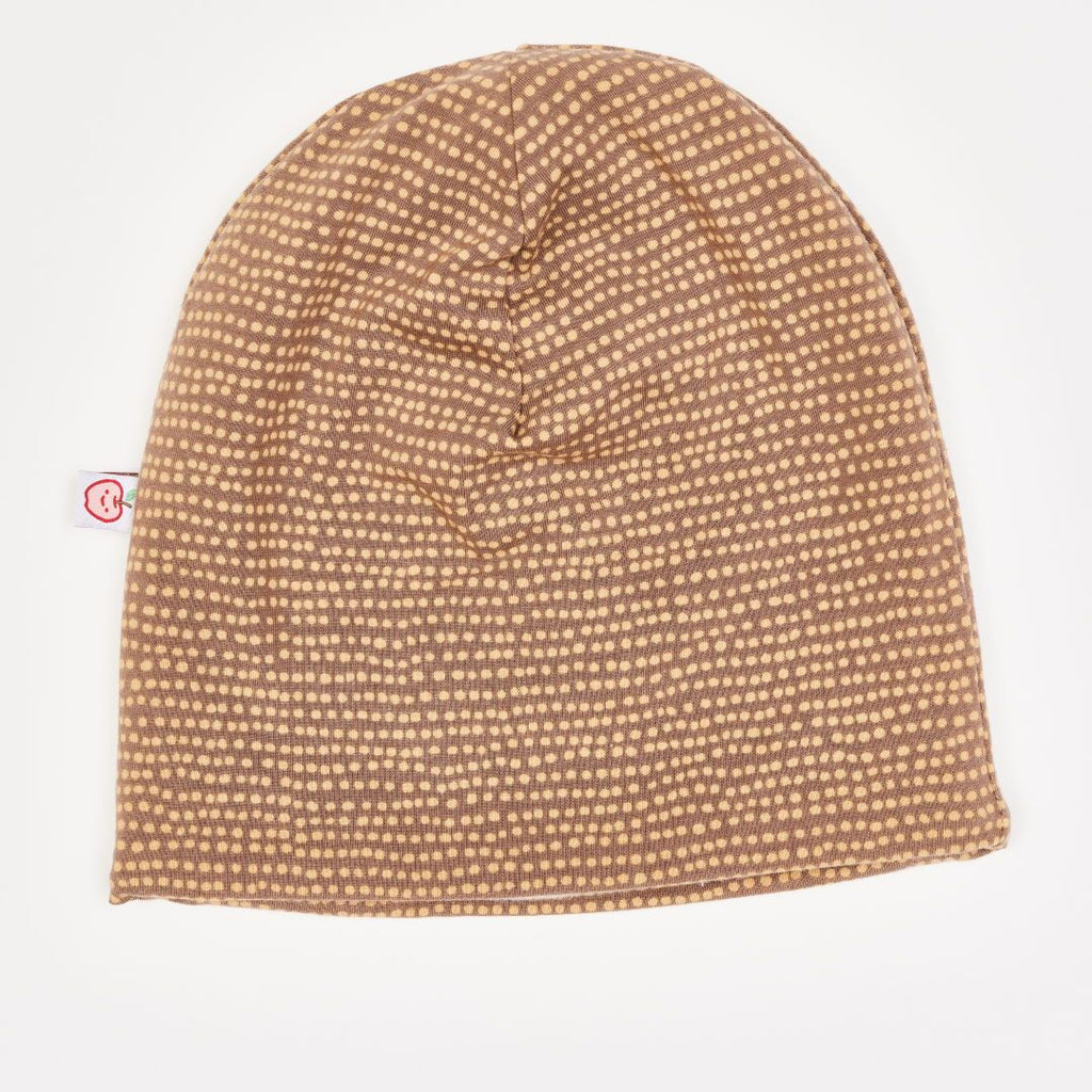 "Beanie-Haube ""Dotted Lines Taupe"""
