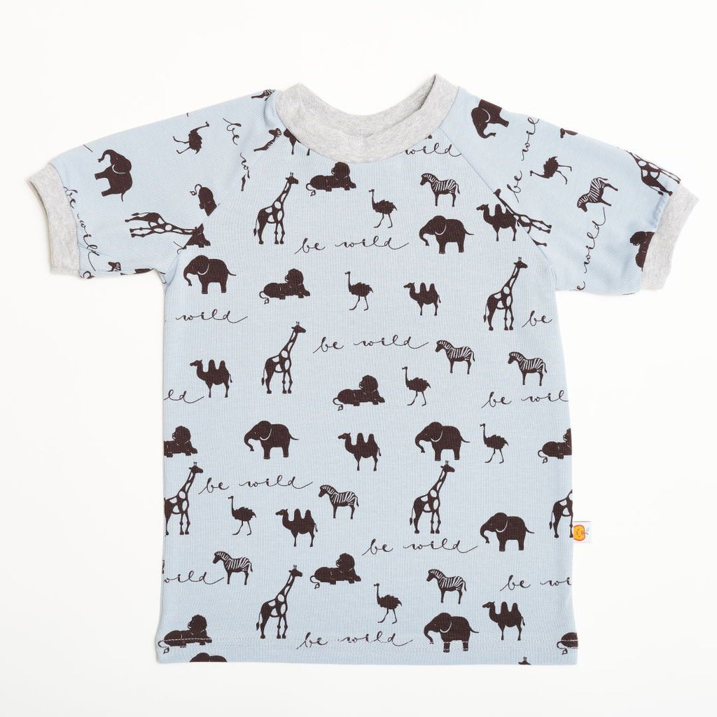 "Boys' T-shirt ""Be Wild/Grey"""