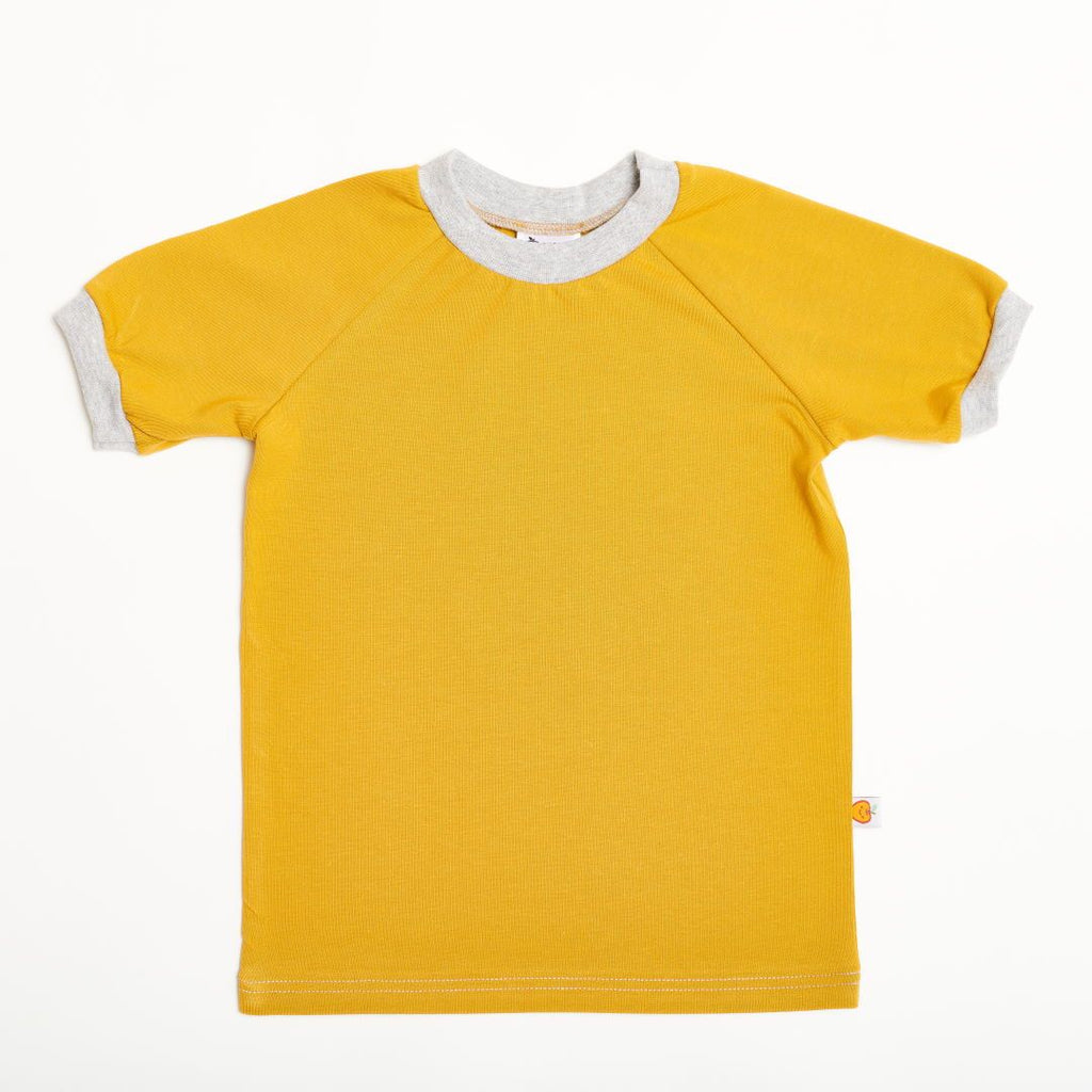 "Boys' T-shirt ""Ochre/Grey"""