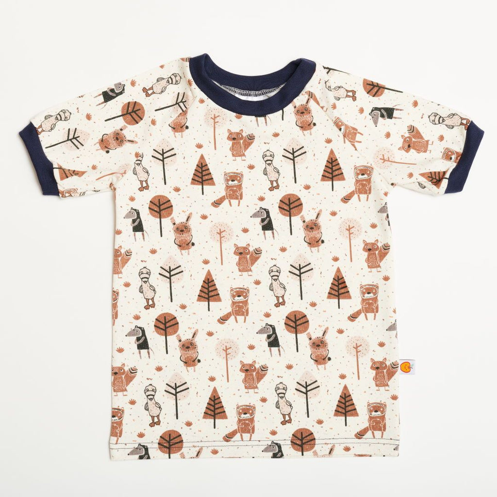 "Boys' T-shirt ""Paper Gang/Navy"""