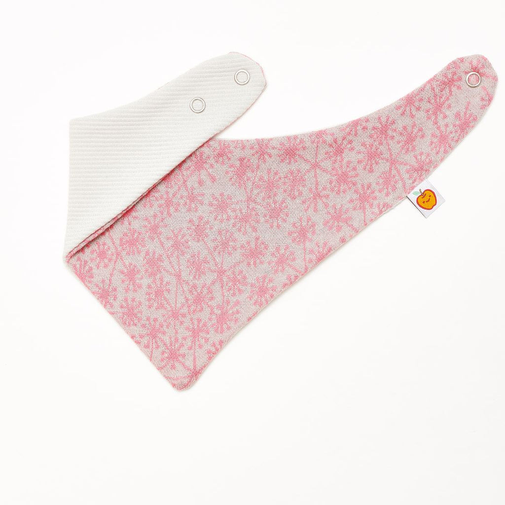 "Dribble bib ""Dandelion Pink/Rib Glacier"" - Cheeky Apple"