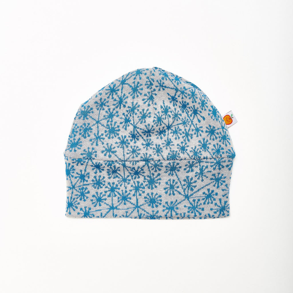 "Lined baby hat ""Dandelion Blue/Rib Glacier"" - Cheeky Apple"