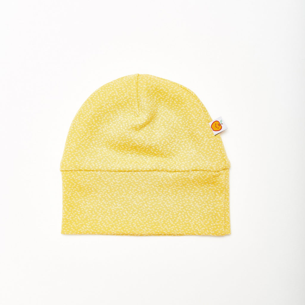 "Lined baby hat ""Dotties Bamboo/Rib Glacier"" - Cheeky Apple"