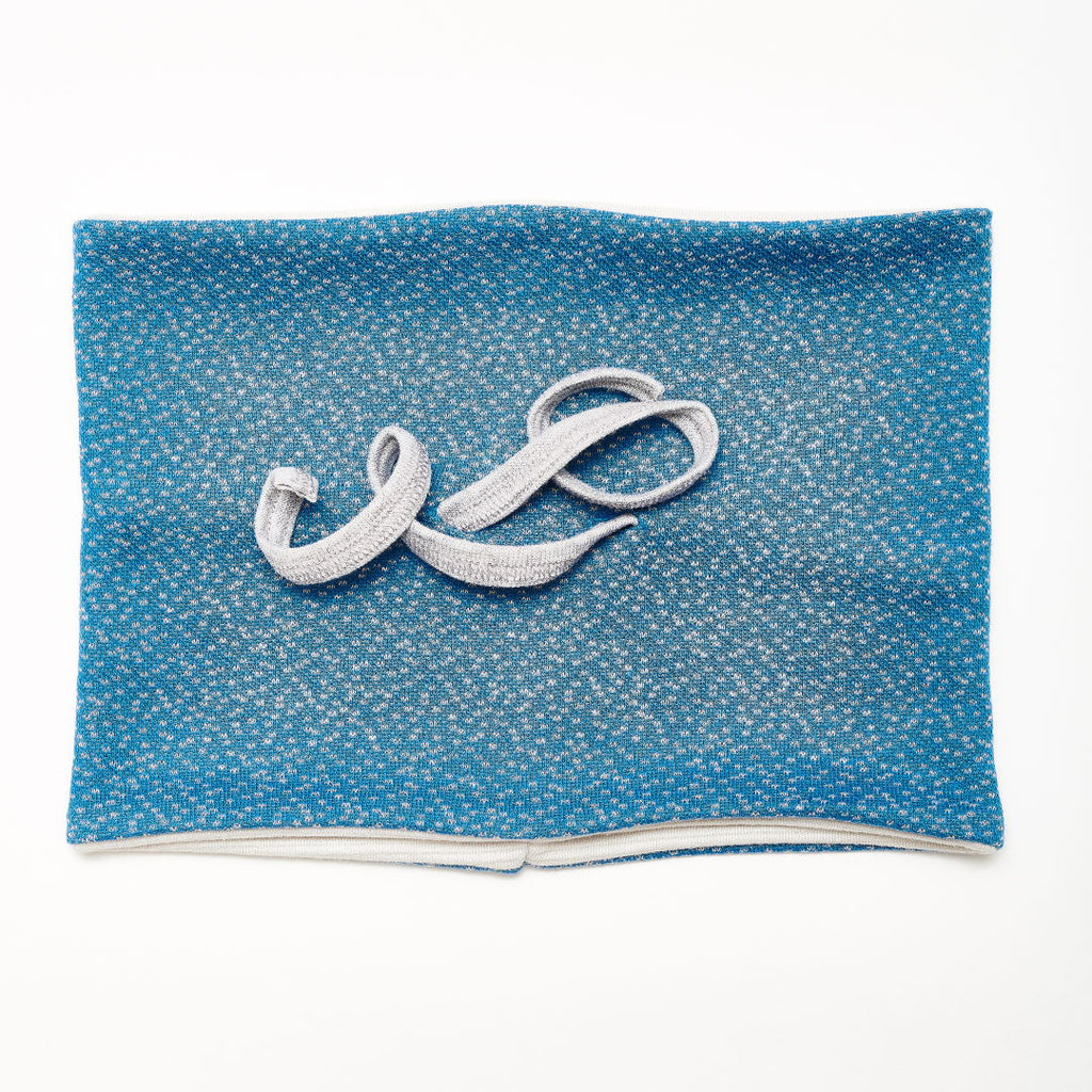 "Neck warmer ""Dotties Blue/Rib Glacier"""