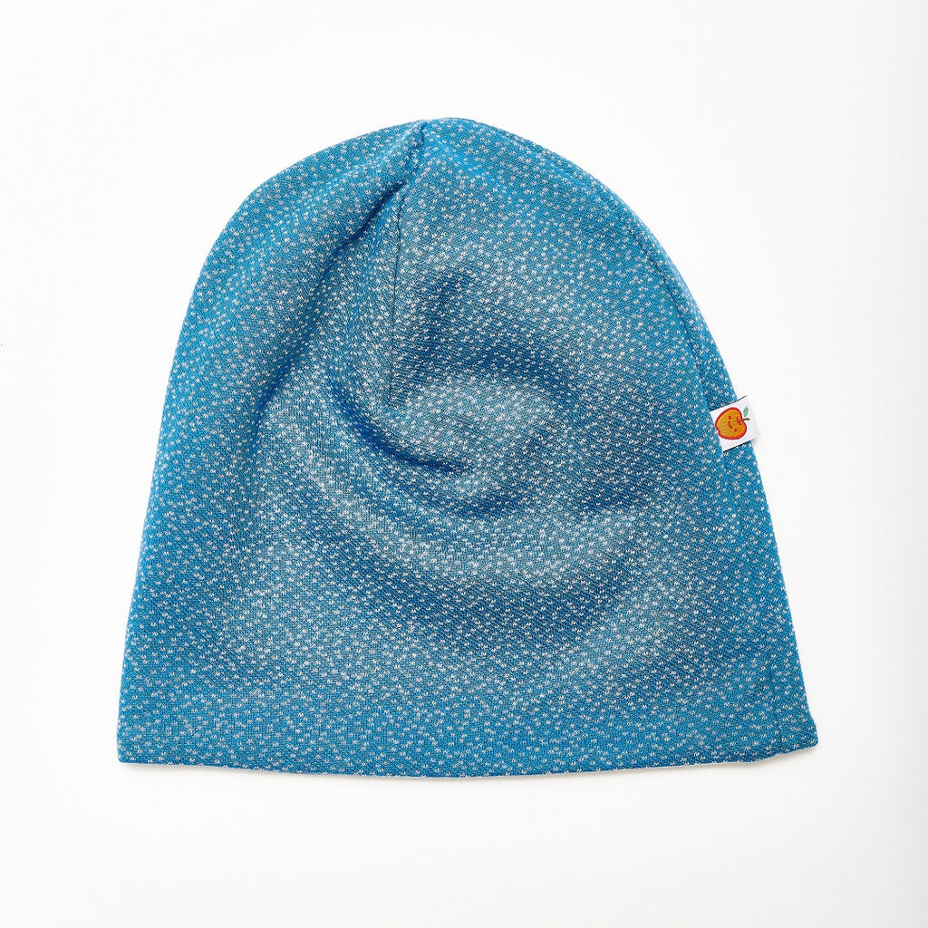 "Beanie ""Dotties Blue/Rib Glacier"" - Cheeky Apple"