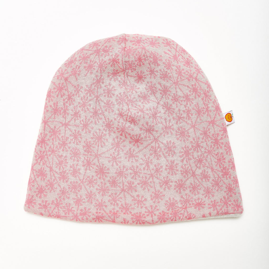 "Beanie ""Dandelion Pink/Fleece Grey"" - Cheeky Apple"