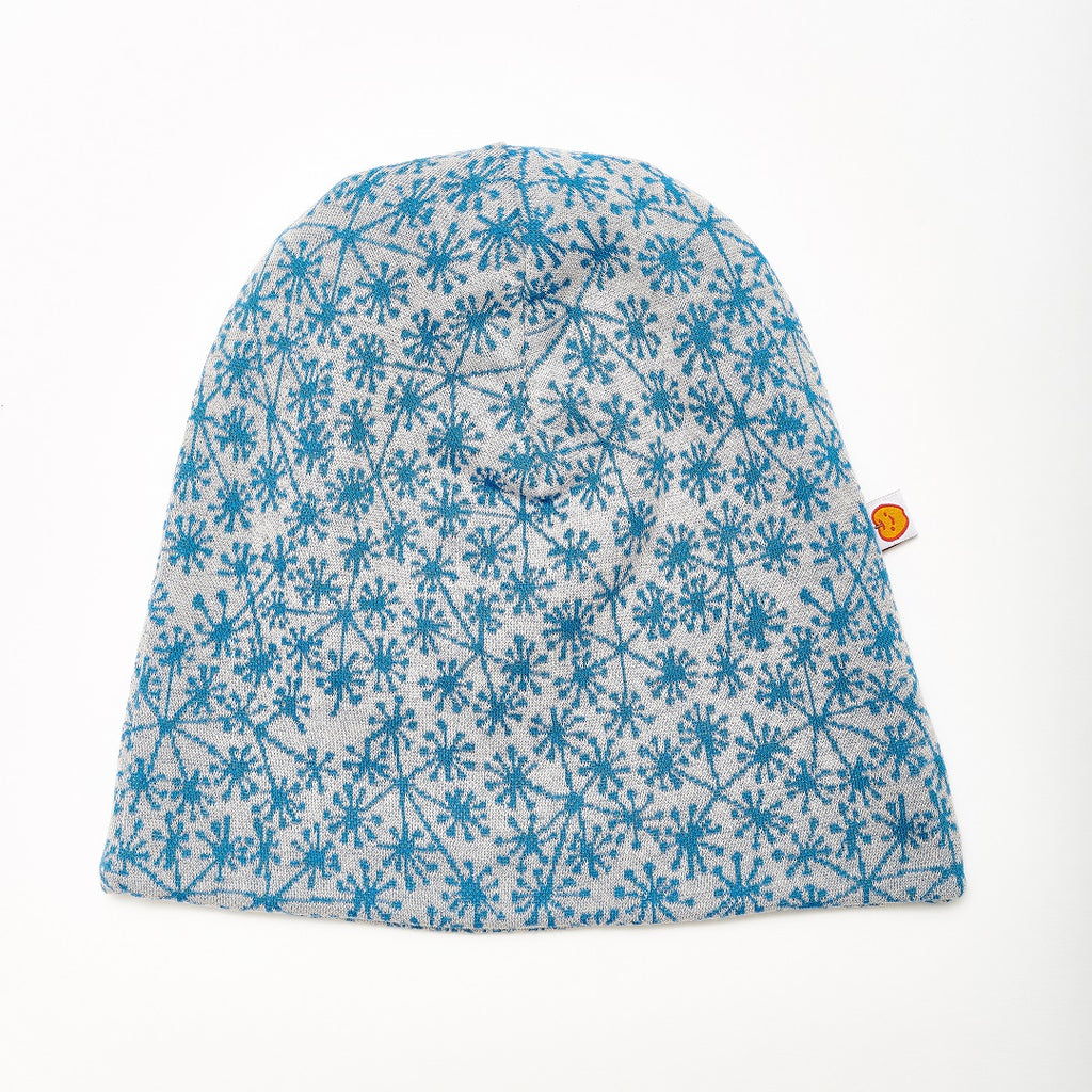 "Beanie ""Dandelion Blue/Fleece Grey"" - Cheeky Apple"
