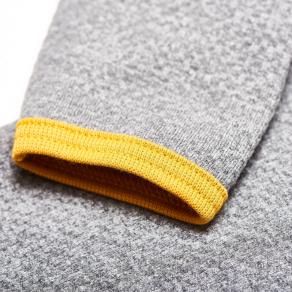"Long sleeve baby top ""Interlock Doubleface Grey/Mustard"""