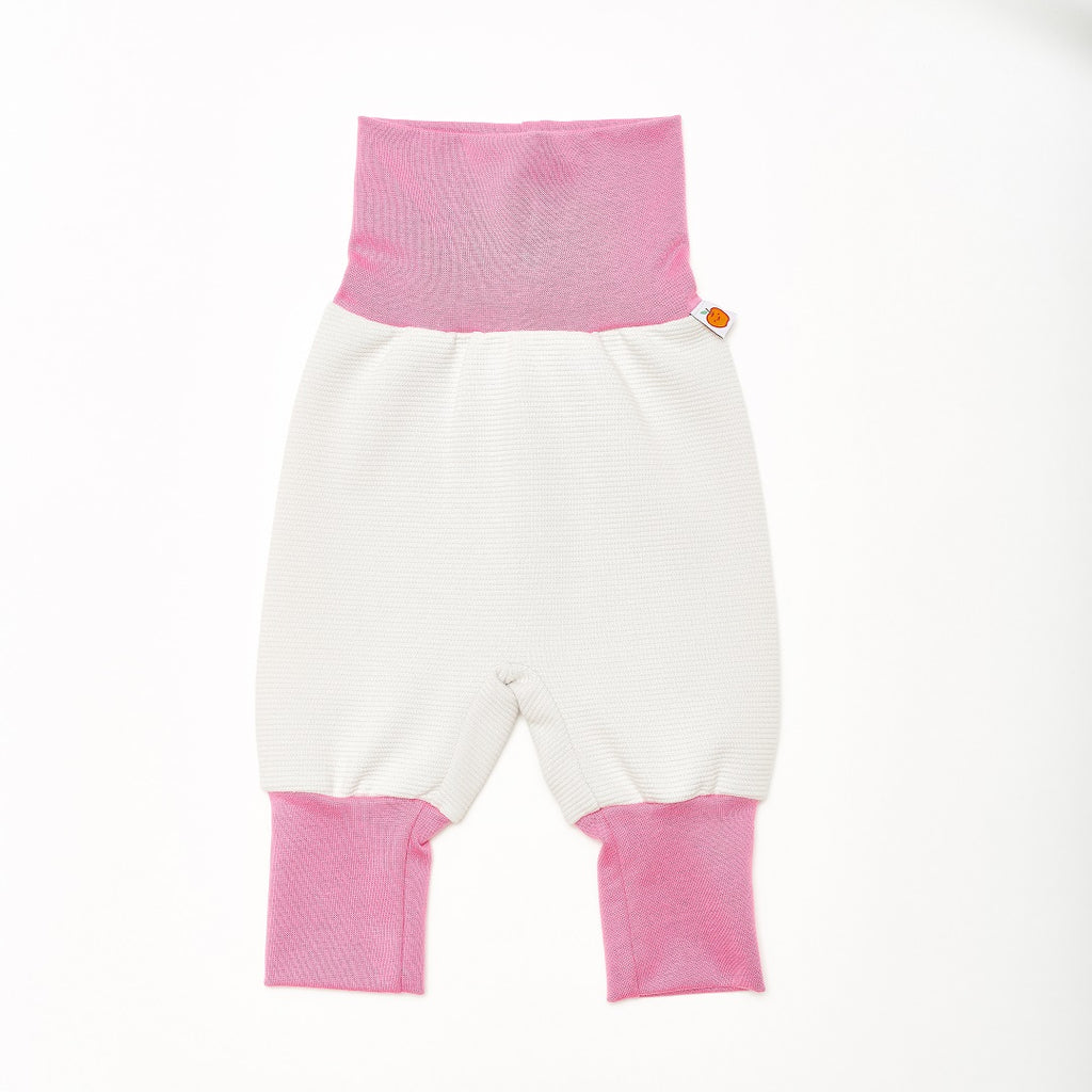 "Baby Pants ""Rib Glacier/Pink"" - Cheeky Apple"