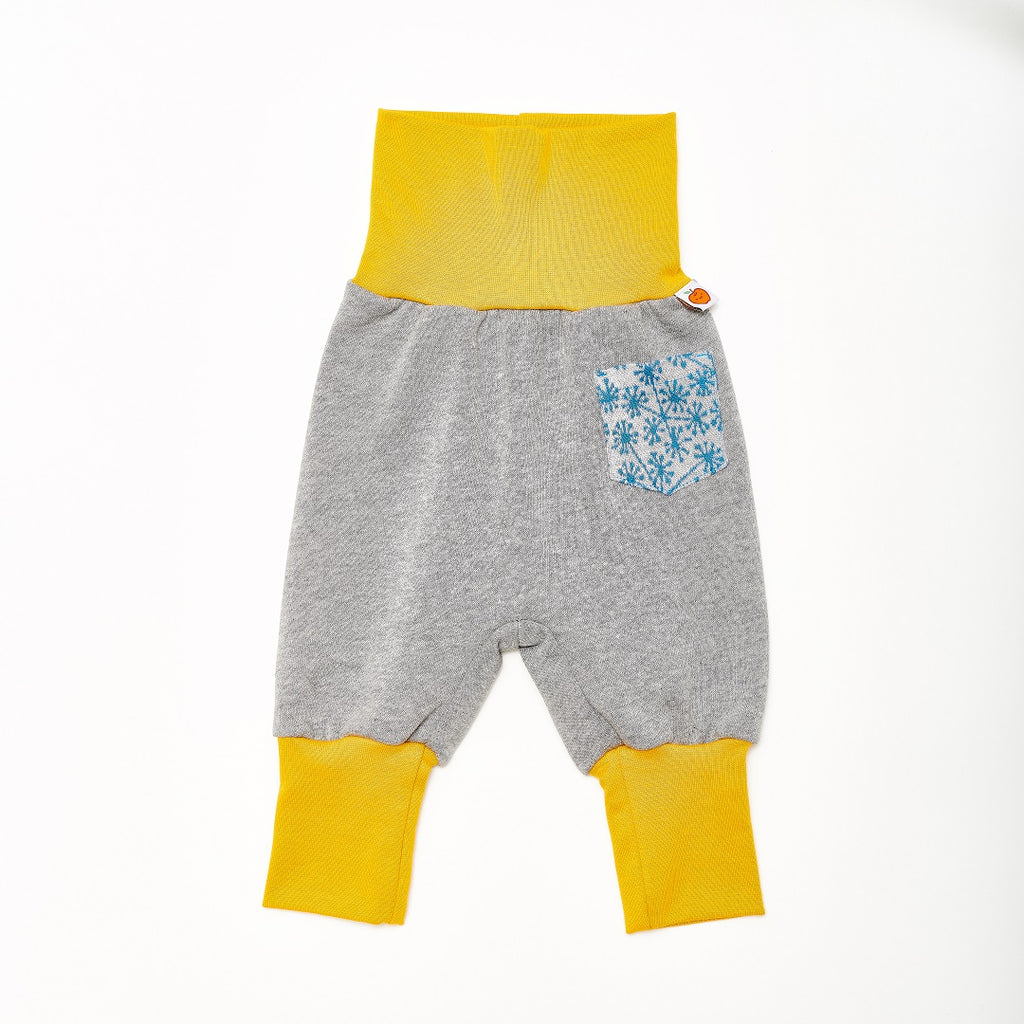 "Baby sweat pants with pockets ""Sweat Grey/Dandelion Blue"""