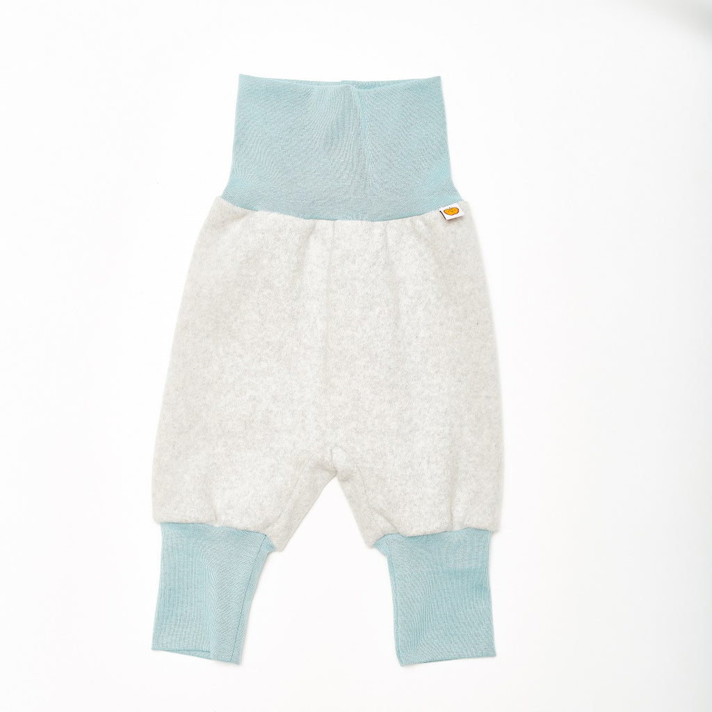 "Baby fleece pants ""Fleece Grey/Stone Blue"" - Cheeky Apple"
