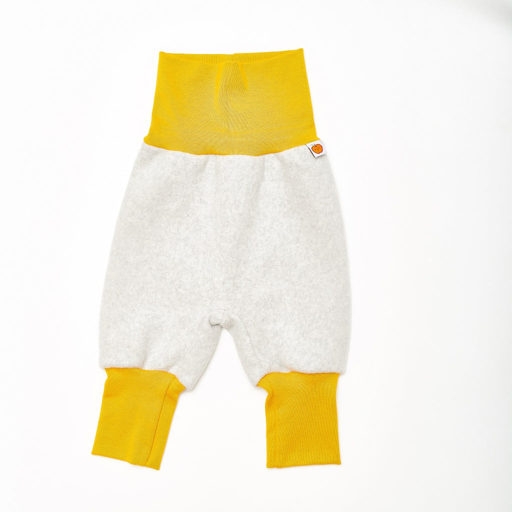 "Baby fleece pants ""Fleece Grey/Mustard"""
