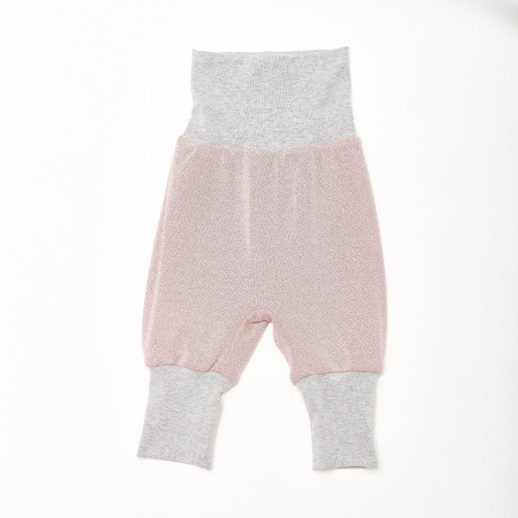 "Reversible Baby Pants ""Dandelion Pink/Dotties Pink"""