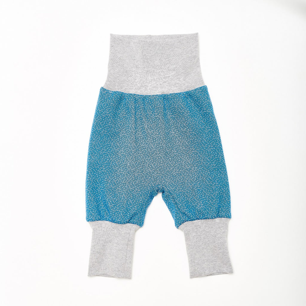 "Reversible Baby Pants ""Dandelion Blue/Dotties Blue"""