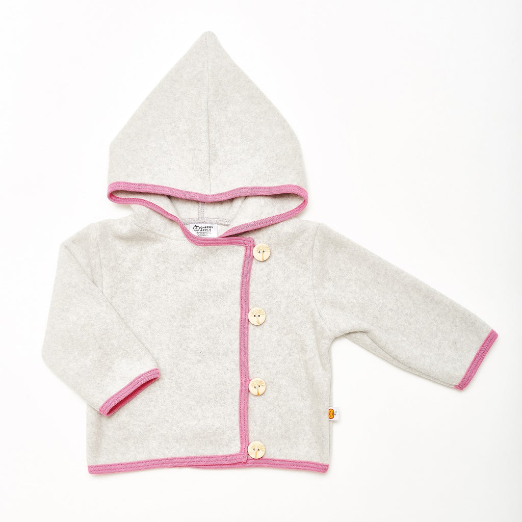 "Fleece baby jacket ""Fleece Grey/Pink"""