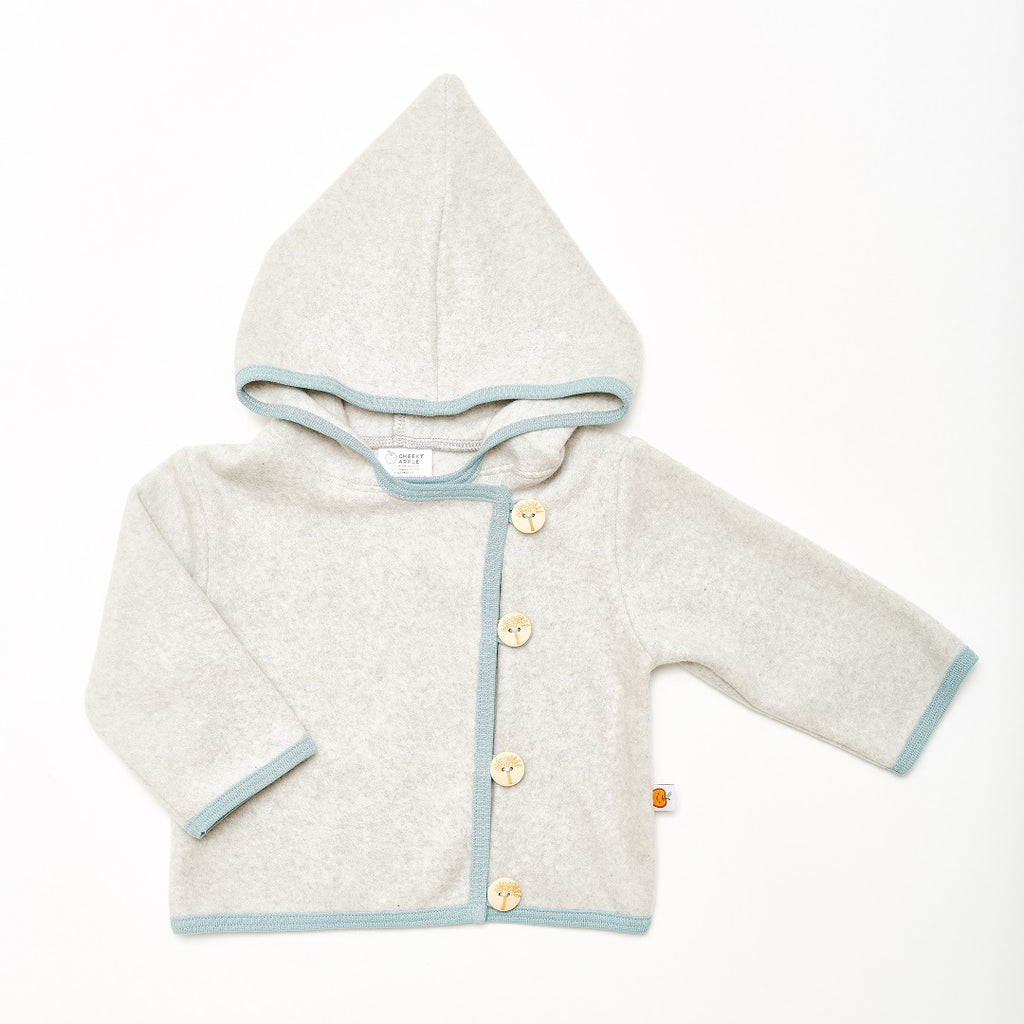 "Fleece baby jacket ""Fleece Grey/Stone Blue"""