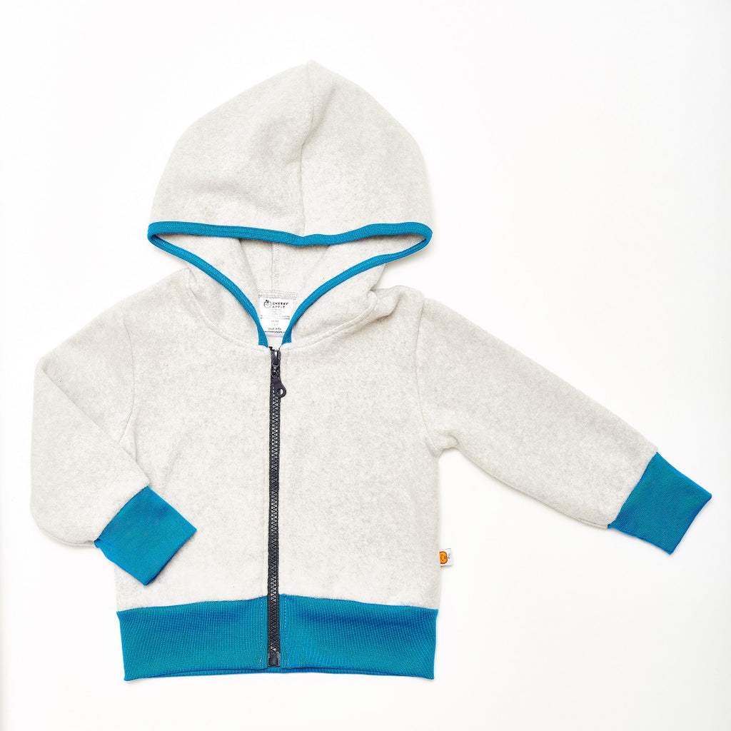"Fleece Jacket ""Fleece Grey/Blue"" - Cheeky Apple"