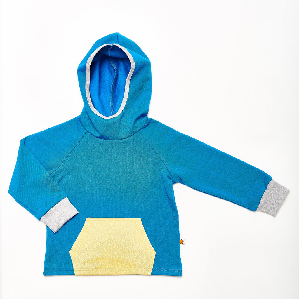 "Hooded Jumper ""Sweat Blue/Dotties Bamboo"""