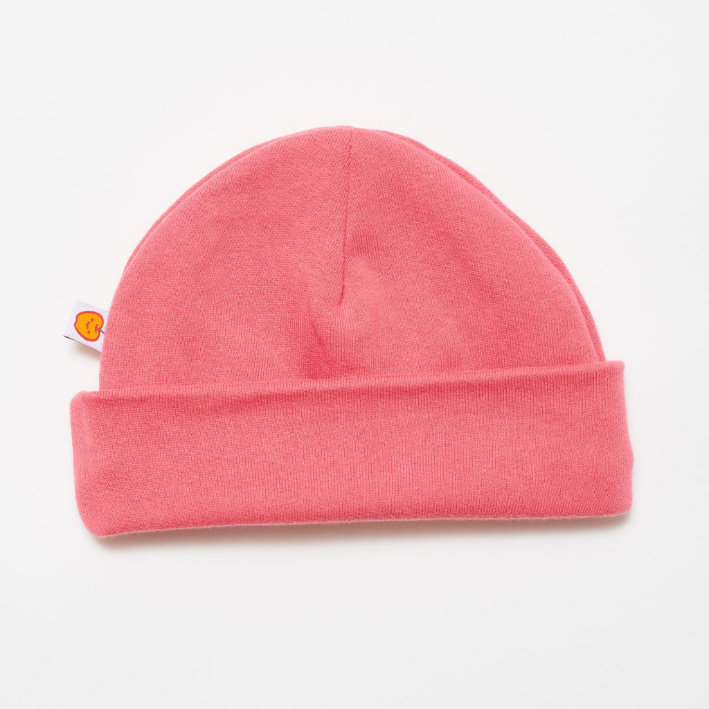 "Lined baby hat ""Sweat rapture rose/Warm olive"""