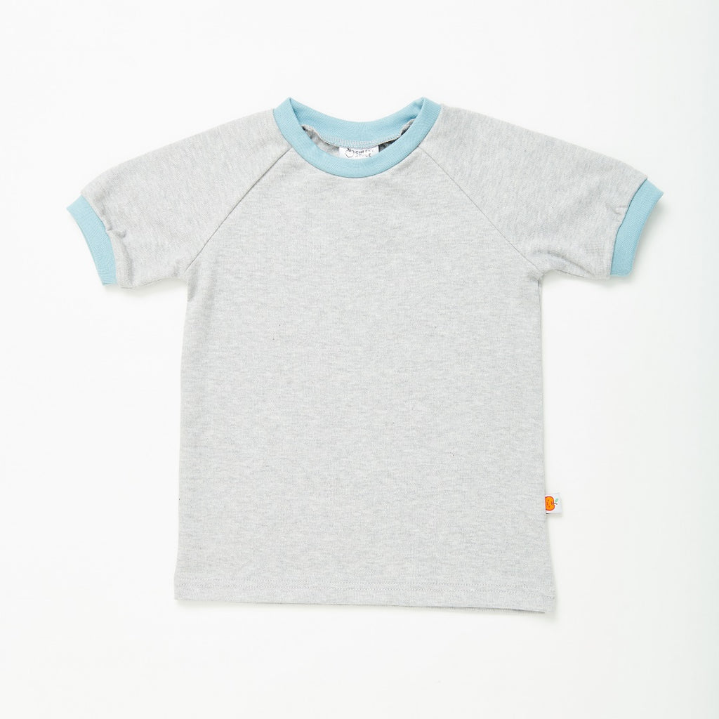 "T-shirt ""Grey/Stone blue"""