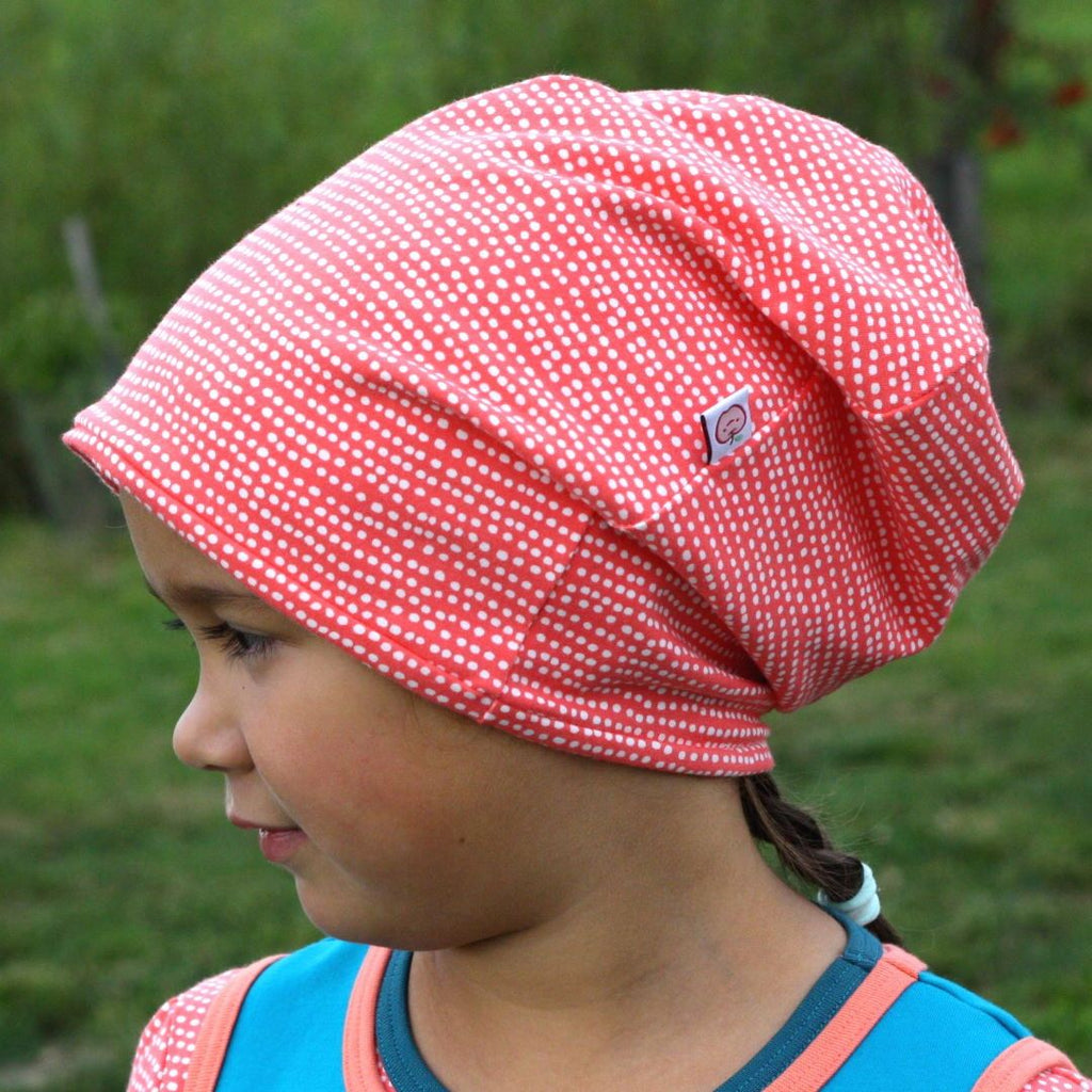 "Beanie ""Dotted Lines Coral"""