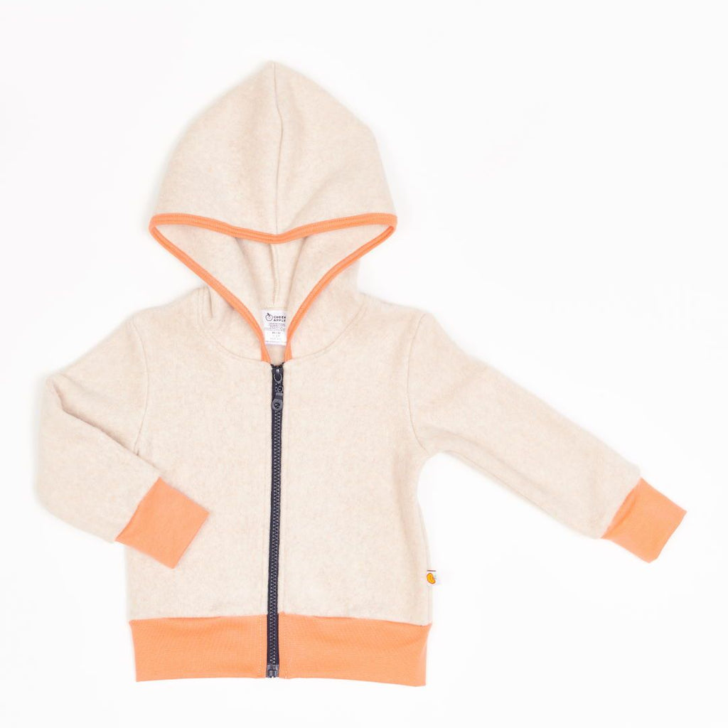 "Fleece Jacket ""Fleece Nude Marl/Apricot"""