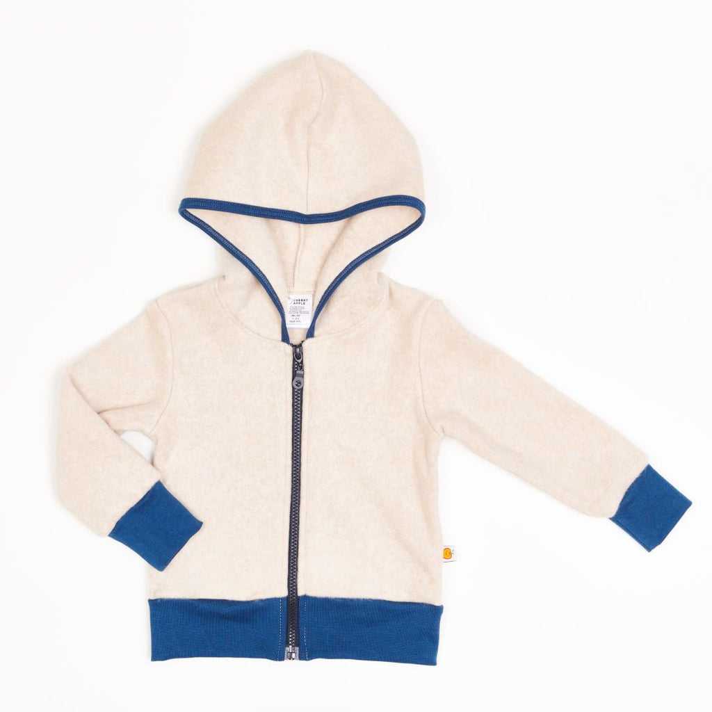 "Fleece Jacket ""Fleece Nude Marl/Indigo"""