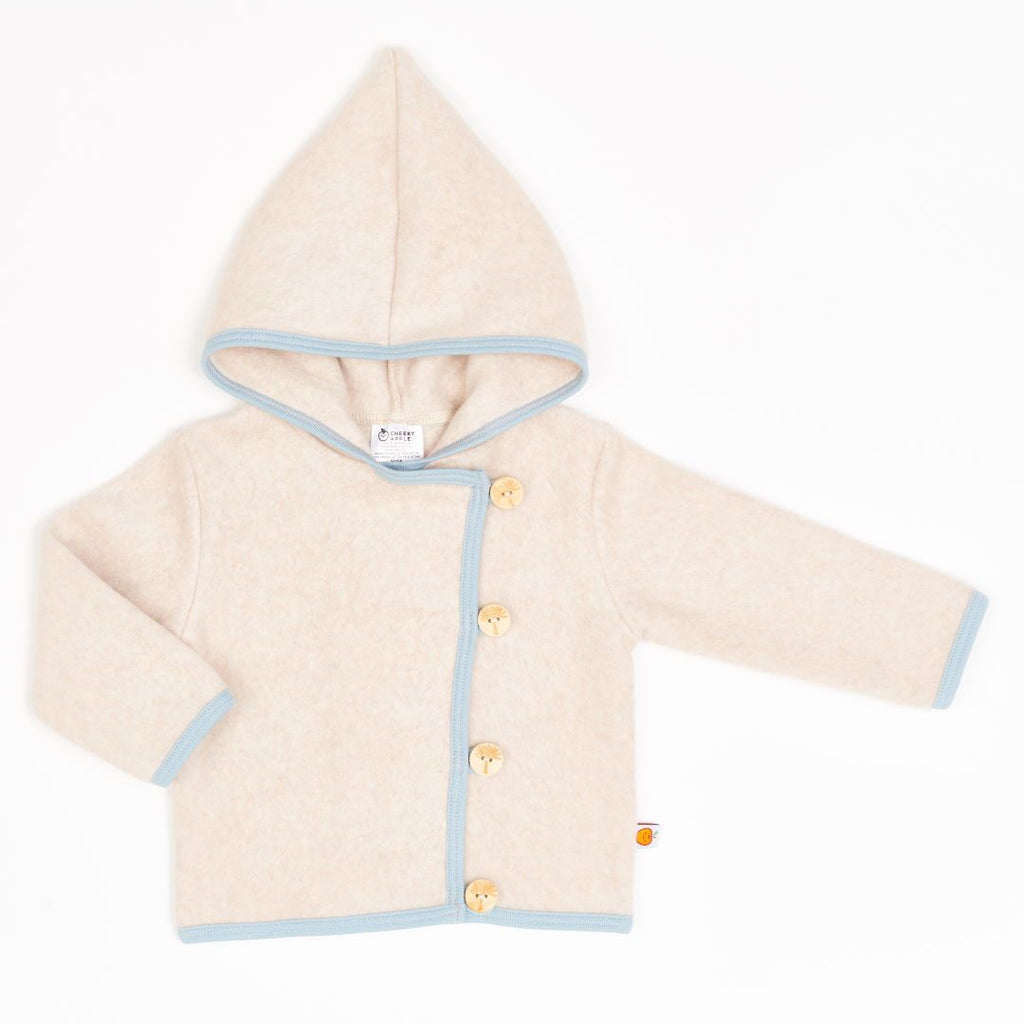 "Fleece baby jacket ""Fleece Nude Marl/Frost"""