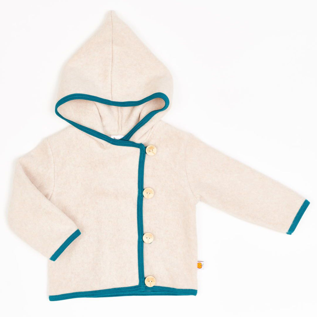 "Fleece baby jacket ""Fleece Nude Marl/Petrol"""