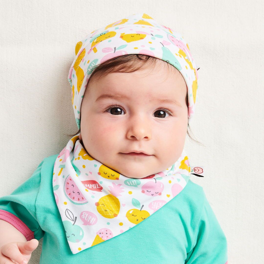 "Organic lined baby hat ""Yummy"" made from 95% organic cotton and 5% elastane"