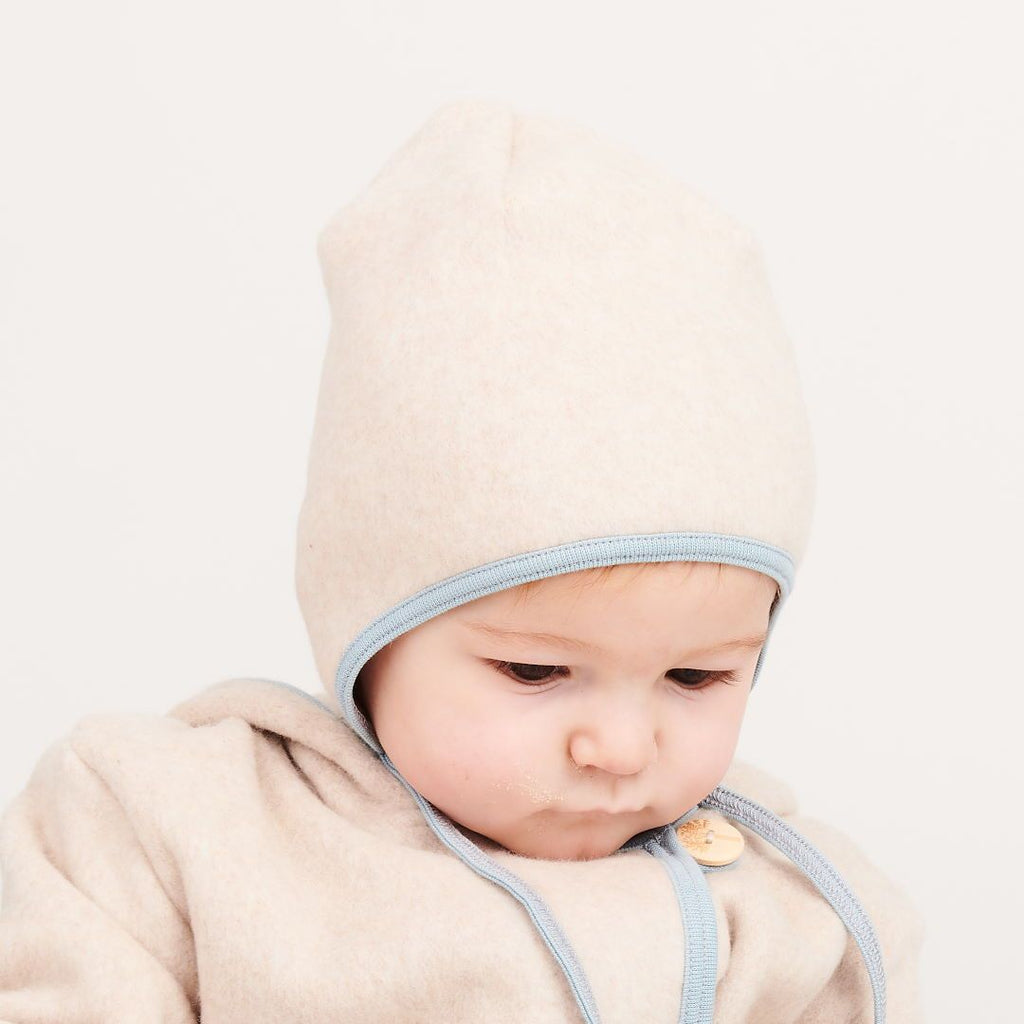 "Fleece baby hat with ear flaps ""Fleece Nude Marl/Frost"""