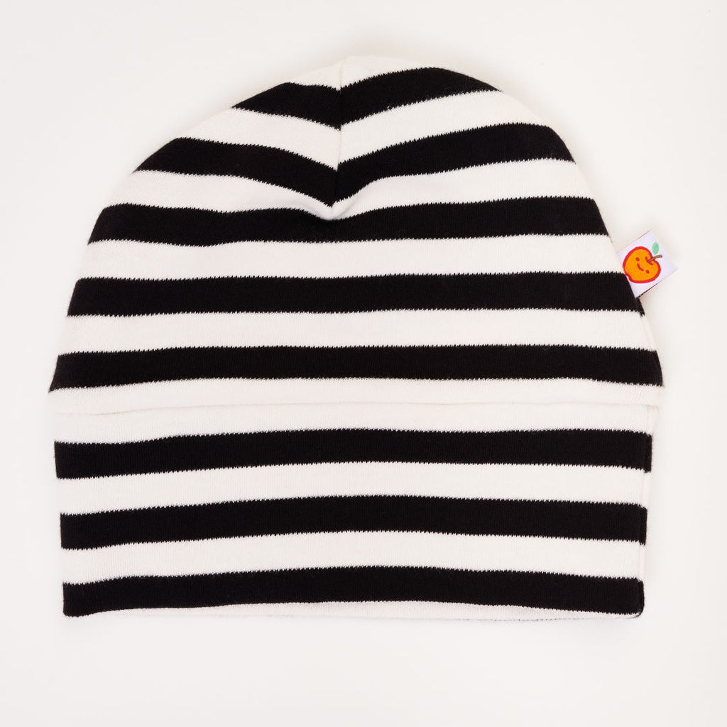"Lined baby hat ""Black-white stripes"""