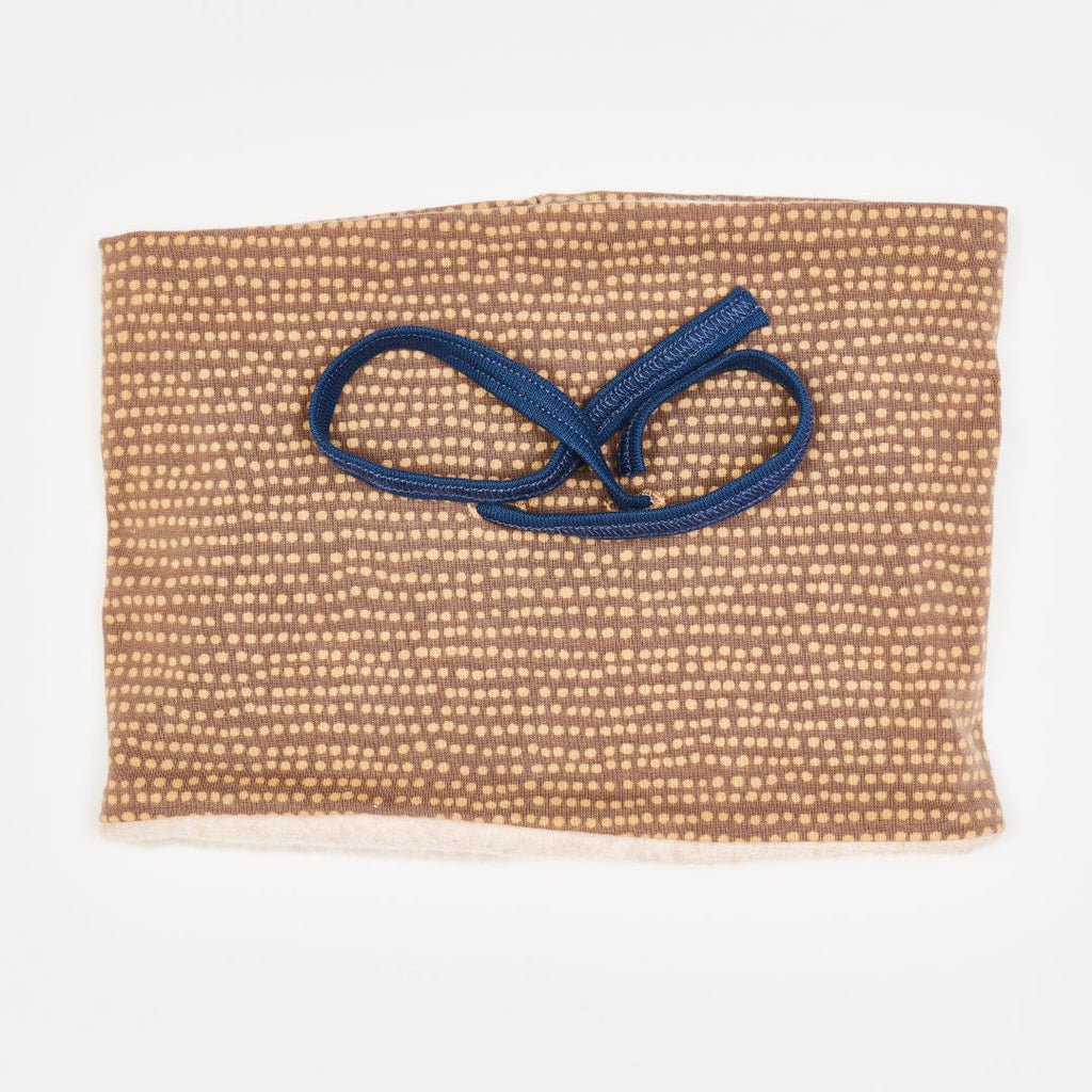 "Lined Neck warmer ""Dotted Lines Taupe