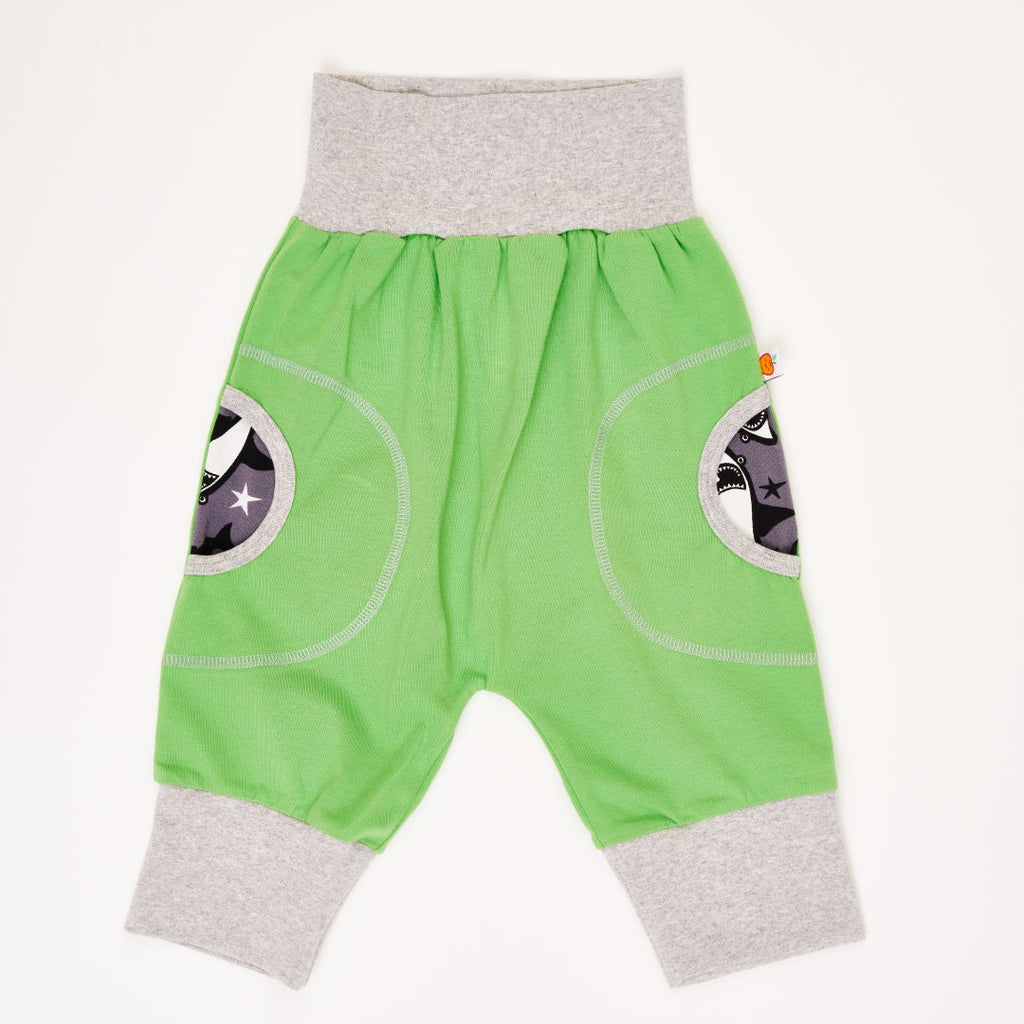 "3/4 pants ""Kiwi-lime/Sharks"""