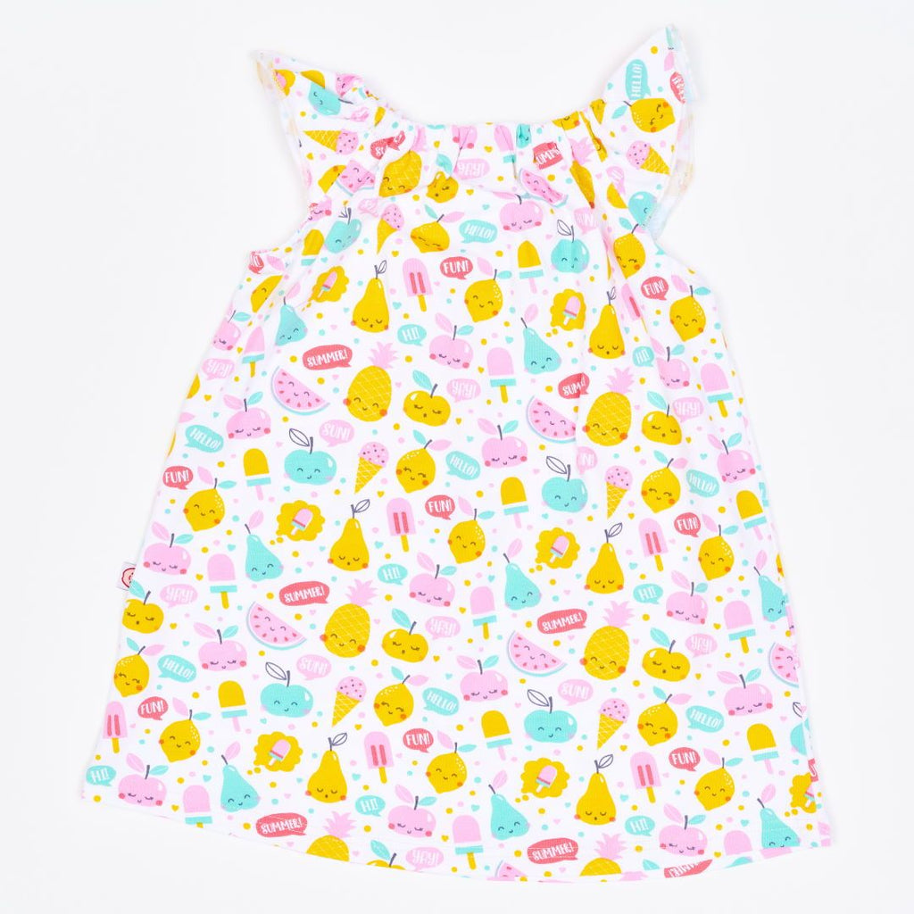 "Organic a-line dress ""Yummy"" made from 95% organic cotton and 5% elastane"