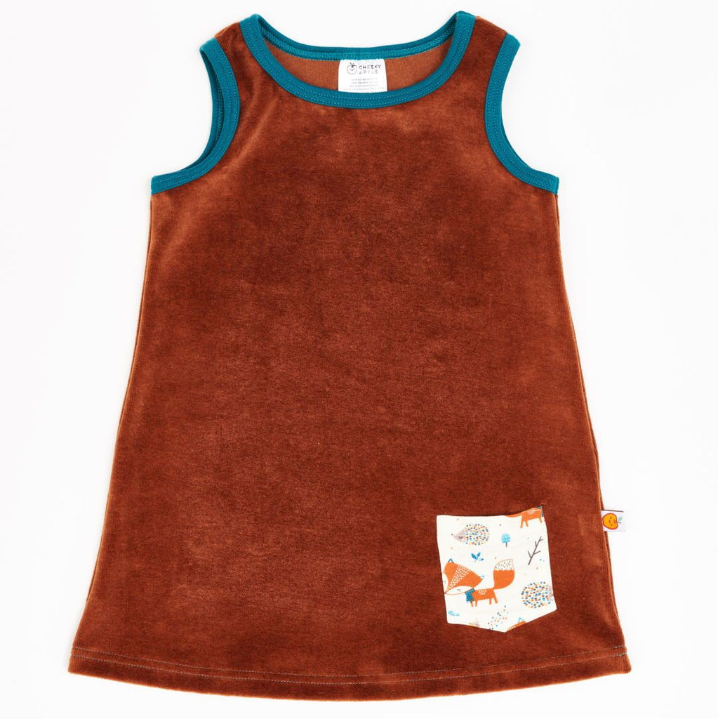 "Sleeveless dress with pocket ""Nicki Copper/Fox & Hedgehog"""