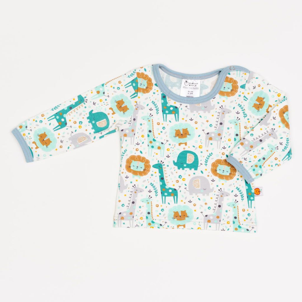 "Long-sleeve baby top ""Mini Jungle"""