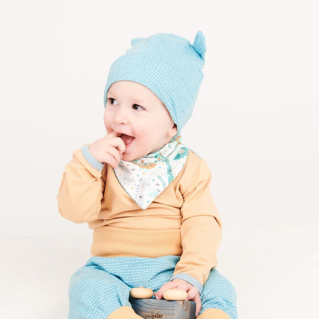 "Long-sleeve baby body ""Cream/Frost"""